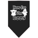Mirage Pet Products 66-174 SMBK Here for the Boos Screen Print Bandana Black Small