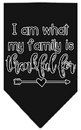 Mirage Pet Products I Am What My Family is Thankful For Screen Print Bandana