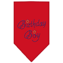 Mirage Pet Products 67-11 LGRD Birthday Boy Rhinestone Bandana Red Large