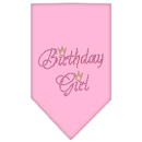 Mirage Pet Products 67-12 SMLPK Birthday Girl Rhinestone Bandana Light Pink Small