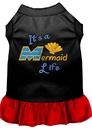 Mirage Pet Products 670-05 BKRDXL Mermaid Life Embroidered Dog Dress Black with Red XL