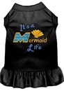 Mirage Pet Products 670-05 BKXL Mermaid Life Embroidered Dog Dress Black XL