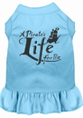 Mirage Pet Products 670-06 BBLLG A Pirate's Life Embroidered Dog Dress Baby Blue Lg