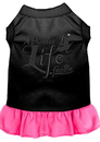 Mirage Pet Products 670-06 BKBPKLG A Pirate's Life Embroidered Dog Dress Black with Bright Pink Lg