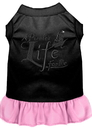 Mirage Pet Products 670-06 BKLPKLG A Pirate's Life Embroidered Dog Dress Black with Light Pink Lg