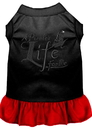 Mirage Pet Products 670-06 BKRDXL A Pirate's Life Embroidered Dog Dress Black with Red XL