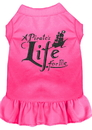 Mirage Pet Products 670-06 BPKXL A Pirate's Life Embroidered Dog Dress Bright Pink XL