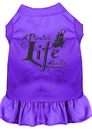 Mirage Pet Products 670-06 PRLG A Pirate's Life Embroidered Dog Dress Purple Lg