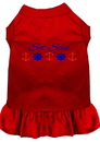 Mirage Pet Products 670-07 RDLG Set Sail Embroidered Dog Dress Red Lg