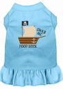 Mirage Pet Products 670-08 BBLSM Poop Deck Embroidered Dog Dress Baby Blue Sm