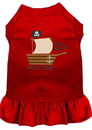 Mirage Pet Products 670-08 RDLG Poop Deck Embroidered Dog Dress Red Lg