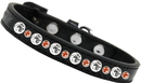 Mirage Pet Products 682-03 BK12 Posh Halloween Jeweled Dog Collar Black Size 12