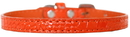 Mirage Pet Products 720-01 ORC16 Omaha Plain Croc Dog Collar Orange Size 16