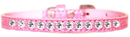 Mirage Pet Products 720-05 LPKC10 One Row Clear Jewel Croc Dog Collar Light Pink Size 10