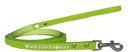 Mirage Pet Products 720-09 LGC1204 Clear Jewel Croc Leash Lime Green 1/2'' wide x 4' long