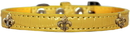 Mirage Pet Products 720-14 YWC20 Bronze Fleur De Lis Widget Croc Dog Collar Yellow Size 20