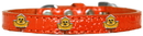 Mirage Pet Products 720-19 ORC12 Chickadee Widget Croc Dog Collar Orange Size 12