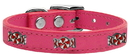 Mirage Pet Products 83-120 Pk20 Peppermint Widget Genuine Leather Dog Collar Pink 20