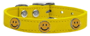 Mirage Pet Products 83-125 Yw10 Happy Face Widget Genuine Leather Dog Collar Yellow 10