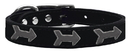 Mirage Pet Products 83-128 Bk18 Arrow Widget Genuine Leather Dog Collar Black 18