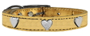 Mirage Pet Products 83-14 16Gd Metallic Heart Leather Gold 16