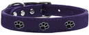 Mirage Pet Products 83-18 12PR Paw Leather Purple 12
