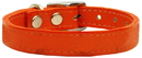 Mirage Pet Products 83-25 24Or Plain Leather Collars Orange 24