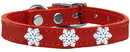 Mirage Pet Products 83-58 Rd16 Snowflake Widget Genuine Leather Dog Collar Red 16