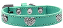 Mirage Pet Products Crystal Heart Dog Collar