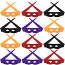 Aspire 12 Pieces Halloween Masks, Zorro Cosplay Party, Costumes Party Accessory