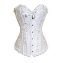 Muka Women's Boned Plus Size Overbust / Underbust Corset Bustier Waist Cincher