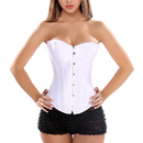 Muka Women White Overbust Corset Bustier Waist Cincher Halloween Costume
