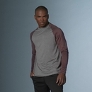 MV Sport 18423 Heather Athletic Long Sleeve Tee