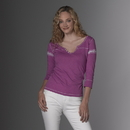 MV Sport W1454 Hailey Henley 3/4 Sleeve