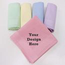 Personalized Combed Cotton Handkerchiefs 12 Pieces Embroidery Handkerchiefs 16