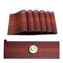 Muka Table Runner and 6 Placemats Set Washable PVC