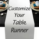 Muka Custom Table Runner, Personalized Cotton Table Runner, Personalized Gift