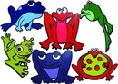 Norbert's Athletic GF-160 Poly Frogs/Set of 6