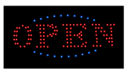 NEOPlex 13-006 Open LED Sign Red With Blue/Green Flash