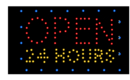 NEOPlex 13-025 Open 24 Hr Led Sign In Red, Yellow, & Blue
