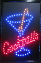 NEOPlex 13-031 Cocktails Led Sign In Red With Blue