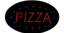 NEOPlex 13-032 Oval Shaped Pizza Led Sign In Red With Blue Tracers