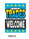 NEOPlex 18-020 Trades Welcome Hood Auto Sign 40