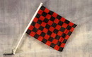 NEOPlex C-018 Checkered Red/Black Car Window Flag