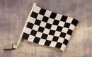 NEOPlex C-130 Checkered Black & White Car Window Flag