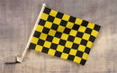 NEOPlex C-131 Checkered Yellow & Black Car Window Flag