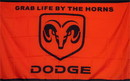 NEOPlex F-1048 Dodge Ram Red/Black Logo 3'X 5' Flag