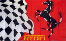 NEOPlex F-1049 Ferrari Stallion Checkered Automotive Logo 3'X 5' Flag