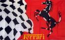 NEOPlex F-1049 Ferrari Stallion Checkered Automotive Logo 3'X 5' Flag