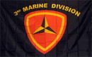 NEOPlex F-1079 Marines 3Rd Division 3'X 5' Military Flag